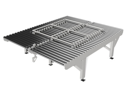 Roller conveyor with rotation function