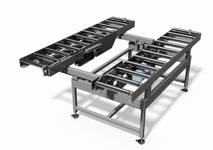 Double variable roller conveyor