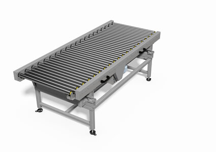 A variable roller conveyor